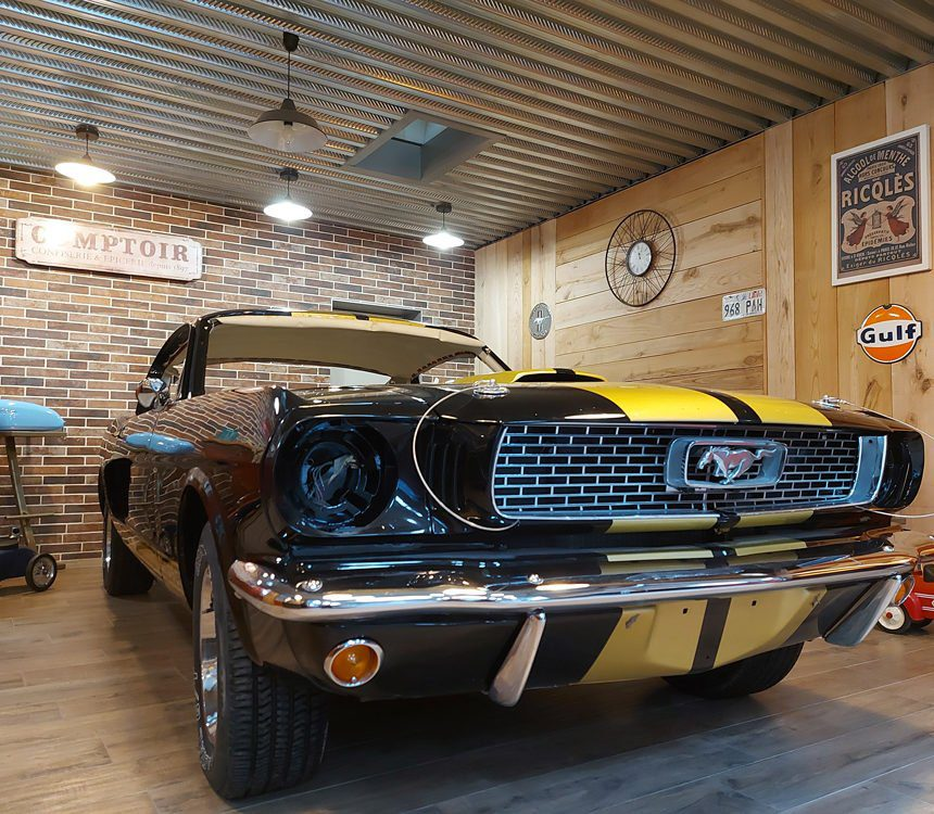 Restauration Ford Mustang Fastback atelier cvdc