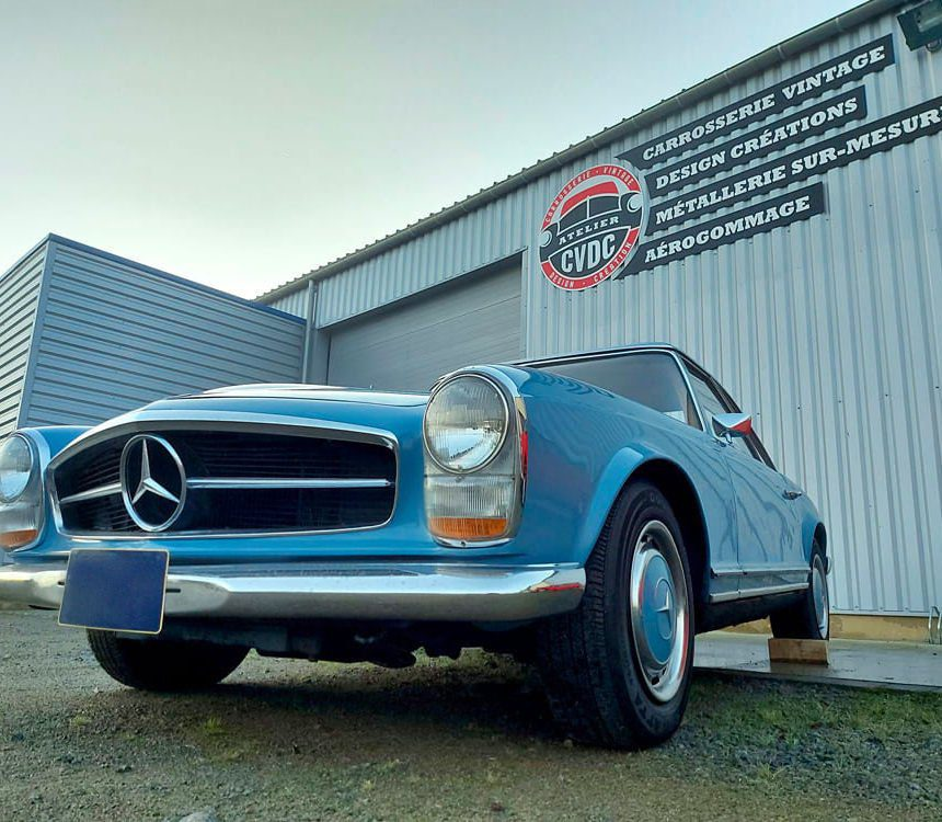 restauration mercedes benz 280 SL pagode bretagne
