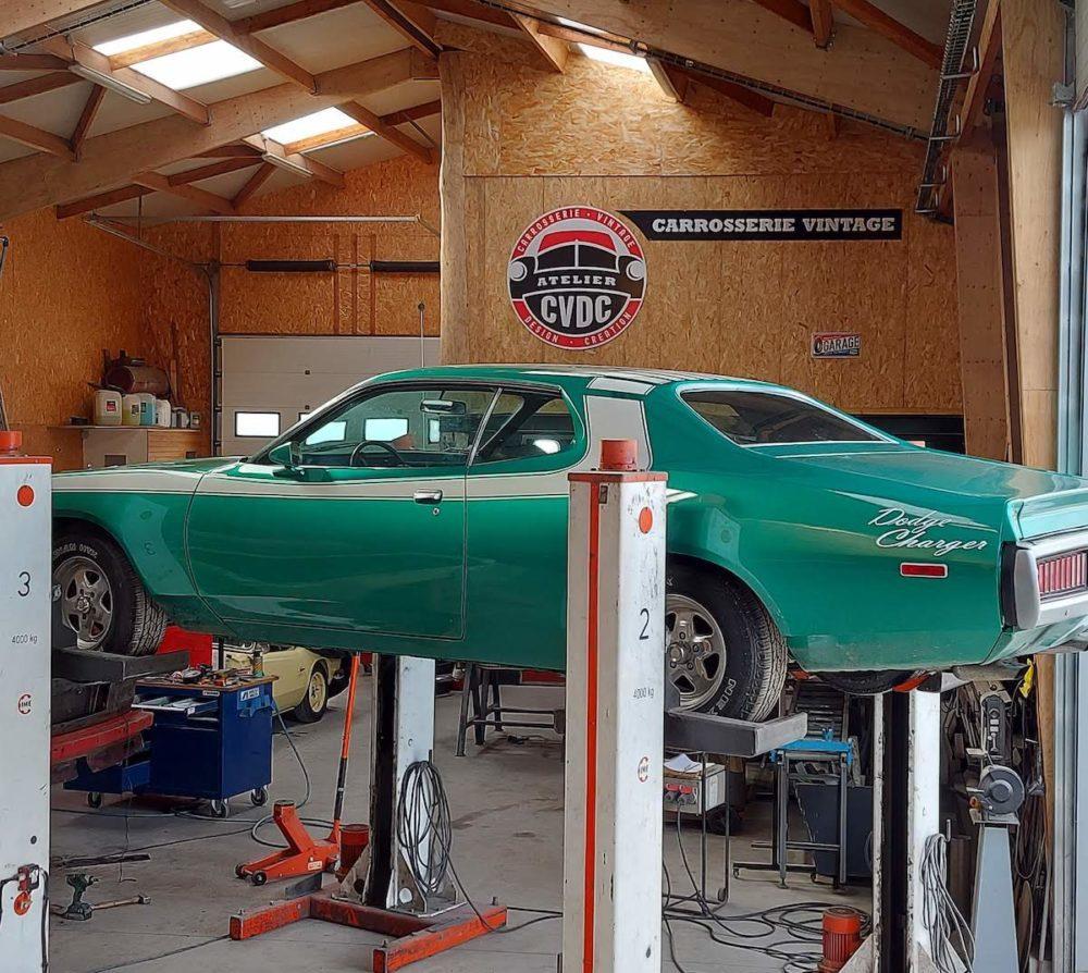 restauration voiture americaine dodge charger chrysler atelier cvdc bretagne