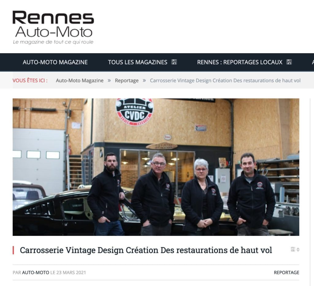 reportage rennes auto moto mars 2021 atelier cvdc vintage creation